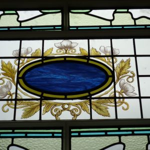 217 - Stained glass within feature window