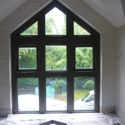 149 - Interior view of apex window; property development still underway in this photo